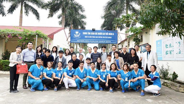 Tiếp đón các nghiệp đoàn điều dưỡng Nhật Bản sang thăm và làm việc tại Công ty Nhân Ái