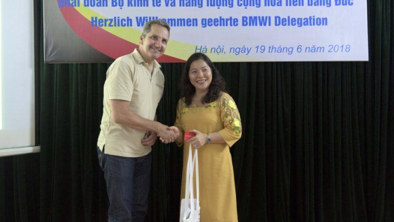 Tiếp đón phái đoàn bộ kinh tế và năng lượng Cộng hòa liên bang Đức