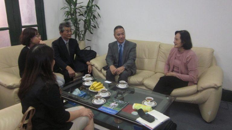 Làm việc với Chủ tịch Hội dạy nghề Việt Nam